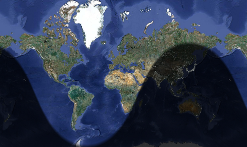 Blog posts science news flatten the earth out again when the northern hemisphere is in summer and you can see again that bell like shape that shows the longest days in the north gumiabroncs Choice Image